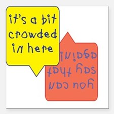crowded womb - twins Square Car Magnet