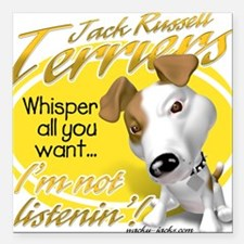 Jack Whisperer Square Car Magnet
