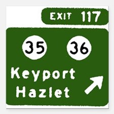 Keyport, Hazlet, NJ Parkway E Square Car Magnet