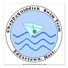 Chappaquiddick Swim Team Square Car Magnet