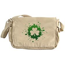 Splatter Shamrock Messenger Bag