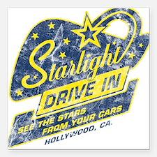 Starlight Drive In Square Car Magnet
