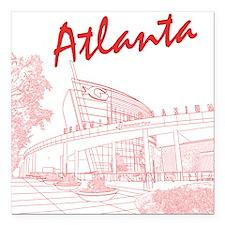 Atlanta Square Car Magnet