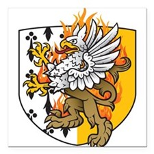 Flaming Gryphon Square Car Magnet