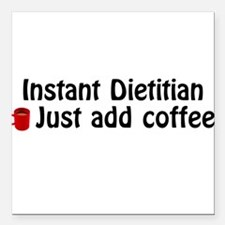 Dietitian Square Car Magnet