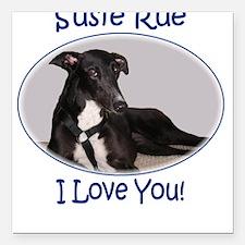 Susie Rue Square Car Magnet
