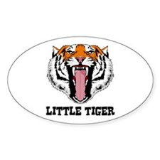 Little Tiger Oval Decal