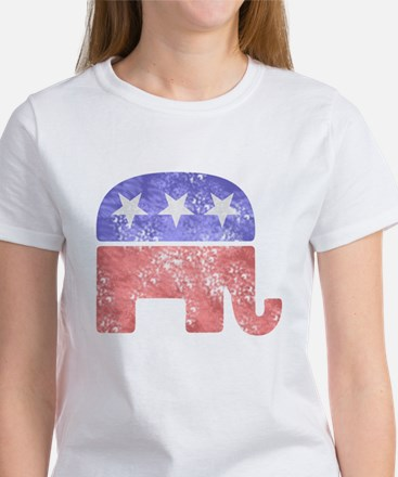 2-RepublicanLogoTexturedGreyBackgroundFadedTs T-Sh