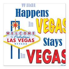 Vegas Square Car Magnet