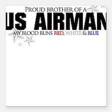 Red, white & blue AF Brother Square Car Magnet