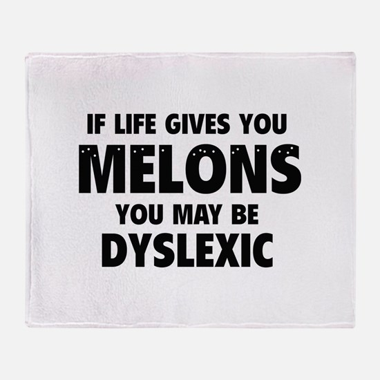 If Life Gives You Melons Throw Blanket