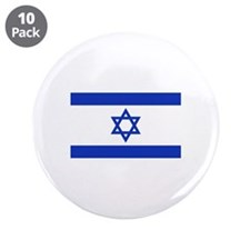 """Israel flag 3.5"""" Button (10 pack)"""