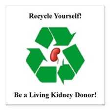 Living Kidney Donor Square Car Magnet