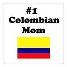 #1 Colombian Mom Square Car Magnet