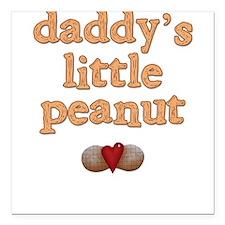 Daddy's Little Peanut Creeper Square Car Magnet