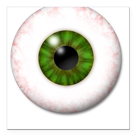 Eyeball Square Car Magnet