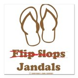 Jandals Square Car Magnets