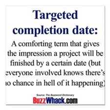 Targeted Completion Date Square Car Magnet