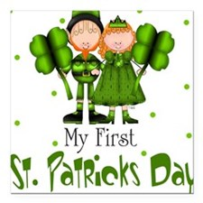 My first St. Patrick's Day Baby Square Car Magnet