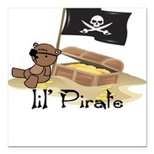 Lil Pirate Baby/Toddler Square Car Magnet