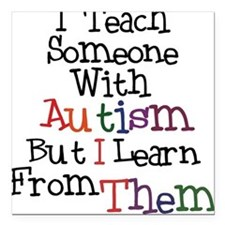 Autism Awareness Teach/Learn Square Car Magnet
