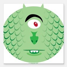 One-eyed Sea Monster Square Car Magnet