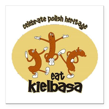 celebrate Polish heritage ea Square Car Magnet