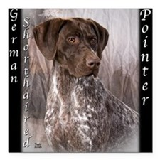 German Shorthaired Pointer Square Car Magnet