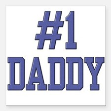 #1 Daddy Square Car Magnet