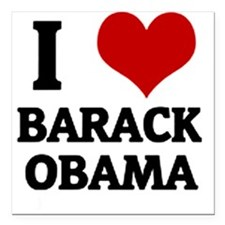 I Love Barack Obama Square Car Magnet