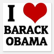 I Love Barack Obama Square Car Magnet