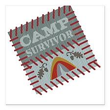 Camp Survivor Square Car Magnet