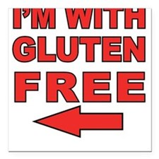 I'm With Gluten-Free Square Car Magnet