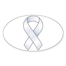 White Ribbon Decal