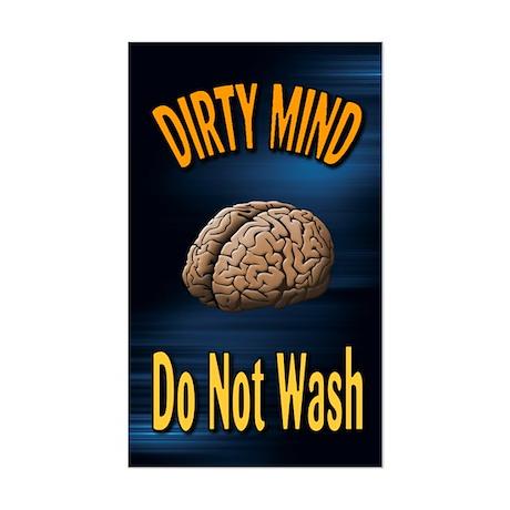 Dirty Mind Sticker (Rectangle)