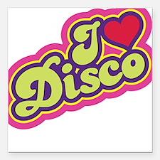I Love Disco Square Car Magnet