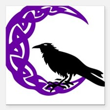 MoonCrow Square Car Magnet