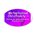 Metaphysical Christianity TShirt 22x14 Oval Wall P