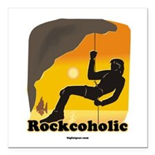 Rockcoholic Square Car Magnet