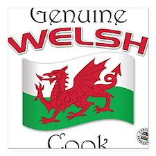 Genuine Welsh Cook Square Car Magnet