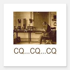 CQ...CQ...CQ Square Car Magnet