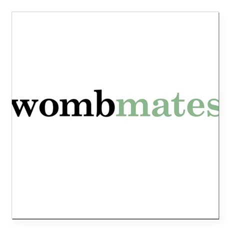 Twin or Triplet Wombmates - Square Car Magnet