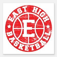 East High Basketball Square Car Magnet