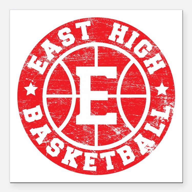 East High Basketball Square Car Magnet
