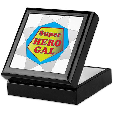 Super Hero GalB.png Keepsake Box