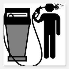 Gas Pump Suicide Square Car Magnet