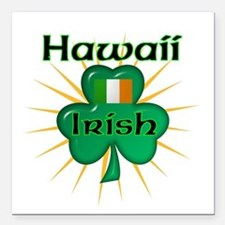 Hawaii Irish Square Car Magnet