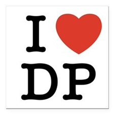 I Heart DP Square Car Magnet