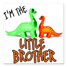 little brother dinosaur Square Car Magnet