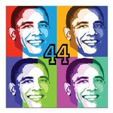 Warhol Obama Square Car Magnet